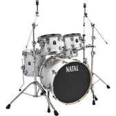 "Natal Originals ASH - White Swirl Shell Pack (22"", 10"", 12"", 16"", + 14""SNR)"