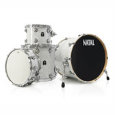 "Natal Originals ASH - White Swirl Shell Pack (22x20"", 12"", 16"", + 14""SNR)"