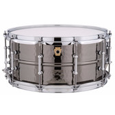 """Ludwig 14""""x 6.5"""" Black Beauty Snare Drum - Hammered Shell, Tube Lugs"""