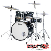 "Pearl Decade Maple Shell Set - Black Ice (22"", 10"", 12"", 16"", + 14"" Snare)"