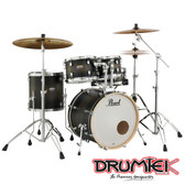 "Pearl Decade Maple Shell Set - Satin Black Burst (22"", 10"", 12"", 16"", + 14"" Snare)"