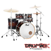 "Pearl Decade Maple Shell Set - Satin Brown Burst (22"", 10"", 12"", 16"", + 14"" Snare)"