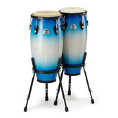 """Pearl Primero Wood Conga Set 10"""" + 11"""" with Stands - in Island Shadow"""