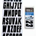 Hardline - Letter/Number Set, Black - INFBLK350