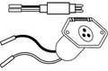 Rigrite - Female Plug, 8 ga. 2-wire - 485