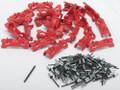 Spg - 24/pk Footlok Cleats Red - FLTC500-RD
