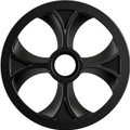 "Slydog - Vortex Bogie Wheel 10"" Black Alpha Wheel A/c - BOG100UNVSOLBLK"