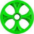 "Slydog - Vortex Bogie Wheel 10"" Green Alpha Wheel A/c - BOG100UNVSOLGRN"