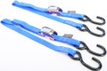 "Powertye - Tie-down Cam S-hook Watercraft 1""x3' Blue Pair - 22033"