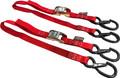 """Powertye - Tie-down Cam Sec Hook Watercra Watercraft 1""""x3' Red Pair - 22031-S"""