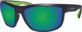 Bomber - Hub Bomb Eyewear Matte Black W/green Mirror Lens - HB103-GM-GF