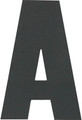 Hardline - Letter, A, Black (PKG 10) (3SCBPA)