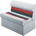 "Wise - 36"" Lounge Seat, White/Charcoal/Red (8WD100-1009)"