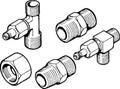 """Seastar / Hydraulics - Bleeder Tee, 3/4""""UNF, 45°Flare, 1/2""""NPT (2) (HF5519)"""