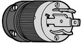 Actuant Electrical - 24V Black T-Motor Plug (2018BP-24)