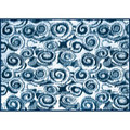 Camco RV Outdoor Mat, 8' x 16', Blue Swirl 01-2951 42841 14-2841