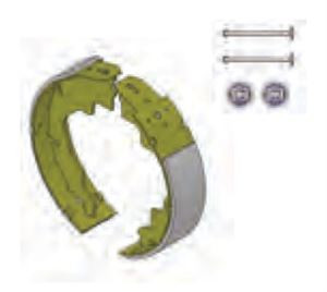 Lippert Components 136451 Electric Brake Shoe and Lining Kit 10 x 2.25