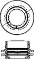 """Custom Roto-Molding Rubber Grommet Inlet, 1-1/2"""" 11-0995 91"""