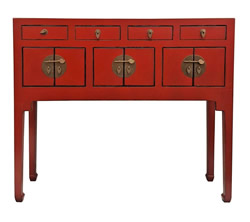 Chinese Console Lacquer Lady Chest