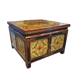 Tibetian Cabinet For Coffee Table Use
