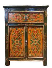 "Tibetan Shoe Cabinet 27"""
