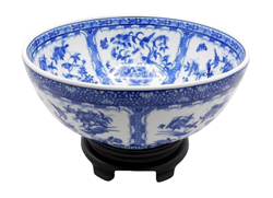 "Chinese Cache Pot Bowl 12"" Diameter with Stand"