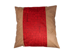 Oriental Red Calligraphy Pillow Case