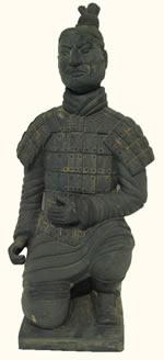 Chinese Kneeling Warrior Statue