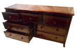 7 drawer carved rosewood dresser