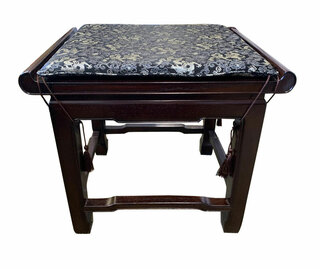 Chinese  Wooden Stool With Cushion