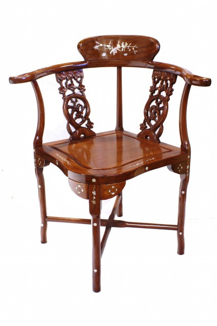 inlaid corner chair solid chinese rosewood 33 h oriental
