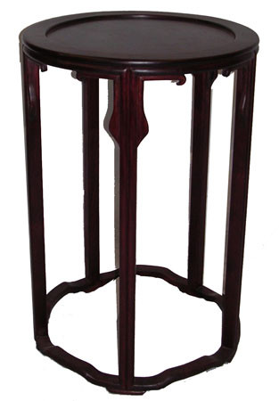 20?? high Regal and delicate, yet sturdy solid rosewood Oriental table. 17??Dx20??H
