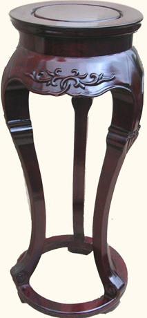 """32"""" high Stylish solid rosewood Oriental 3-legged round plant stand.14""""Dx32""""H"""