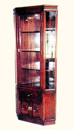 Merveilleux Rosewood Corner Cabinet