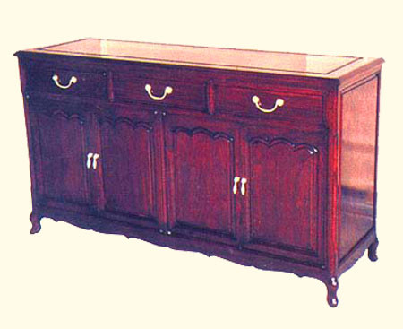60  inch French style Rosewood buffet