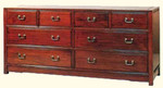 72 inch rosewood dresser with brass handles