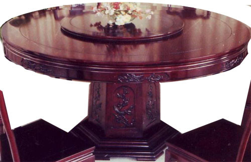 "dining room tables with lazy susan | Oriental Dining Table with Lazy Susan, 54"" wide solid ..."