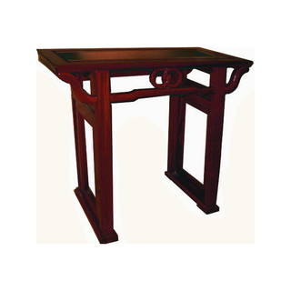 "33""w Solid Rosewood Oriental Hall Table with Hand Carved Eternal Knot"