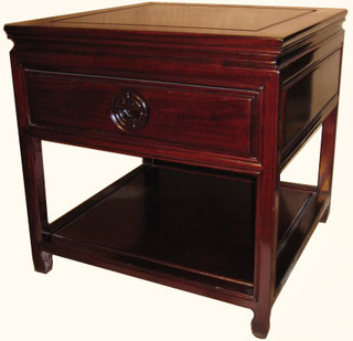 Solid Rosewood plain Ming style end table