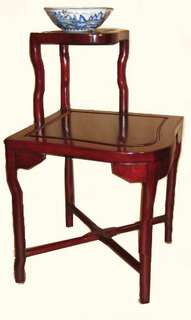 Solid rosewood corner step table