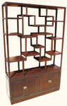 Ming style solid rosewood step curio