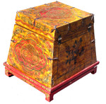 24 inch wide hand painted trunk