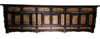 "Tibetan Cabinet 88 "" Long."