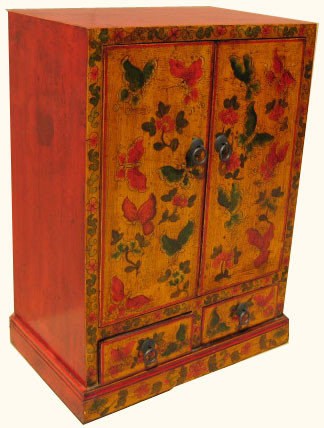 19 3/4 inch wide elmwood hall cabinet