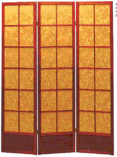 Bejing dragon. 3-panel hard back fabric screen or room divider