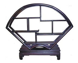 21 inch wide dark Netsuke stand