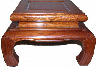 Light mahogany color Chow Leg  6.5 inch square Chinese vase or fish bowl stand