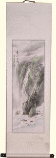 Silk scroll: Agra Falls