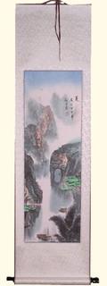 Silk scroll: Mountain grotto