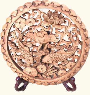 Camphor wood carving
